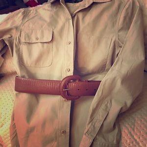 Polo Ralph Lauren khaki shirt dress